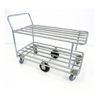 TS055 Large Double Industrial Tubular Trolley