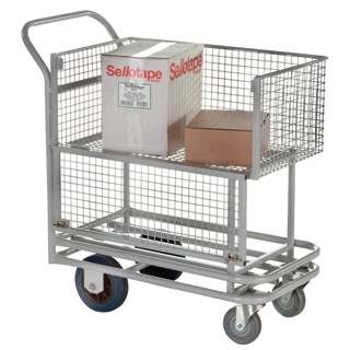 Wire Basket Trolley with Drop Side